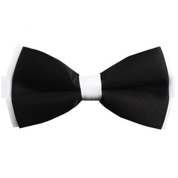 Black With White Black Bow Tie