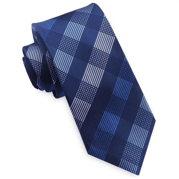 Blue Tartan Skinny Tie