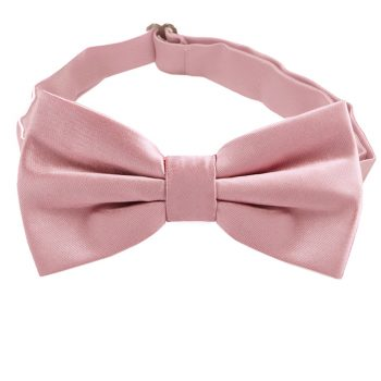 Blush Dusky Pink Bow Tie