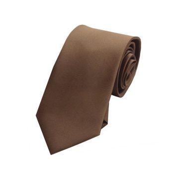 Boys Chocolate Coffee Brown Plain Tie