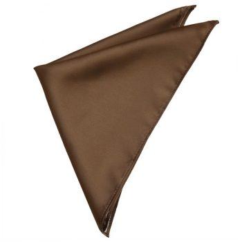 Mens Chocolate Coffee Brown Pocket Square