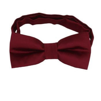 Burgundy Red Boys Bow Tie