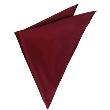 Mens Burgundy Red Pocket Square