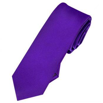 Mens Amethyst Cadbury's Purple Skinny Tie