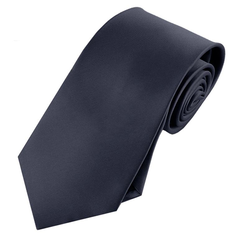 Mens Dark Silver Charcoal Tie