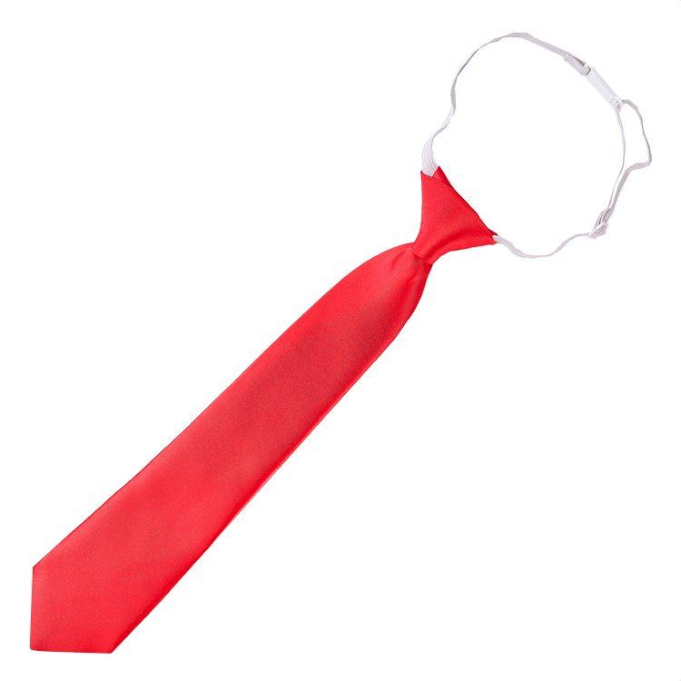 Cherry Red Junior Boys Elasticated Tie