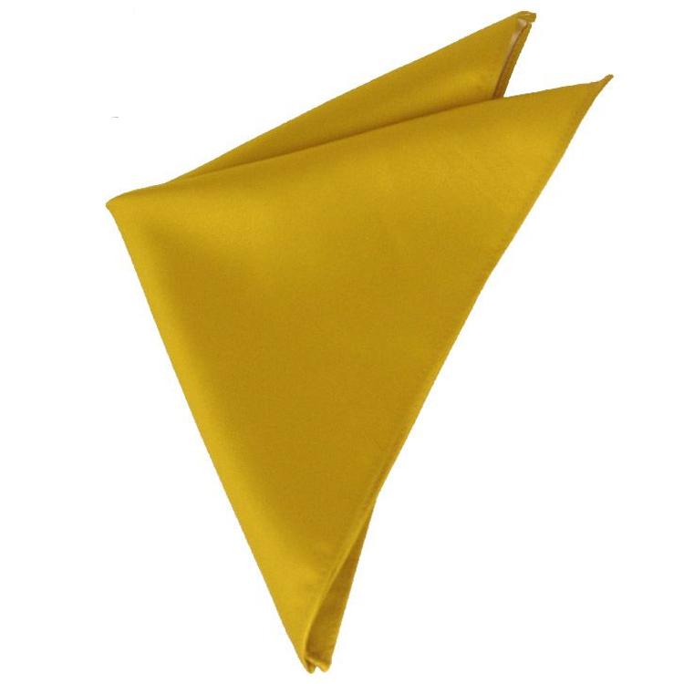 Mens Classic Gold Pocket Square Handkerchief