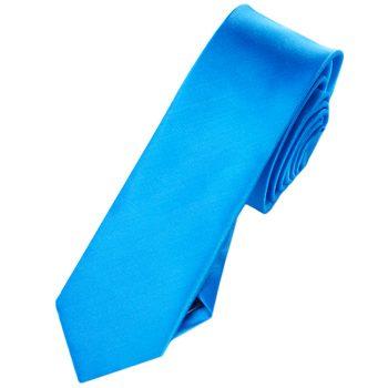 Mens Cobalt Blue Skinny Tie