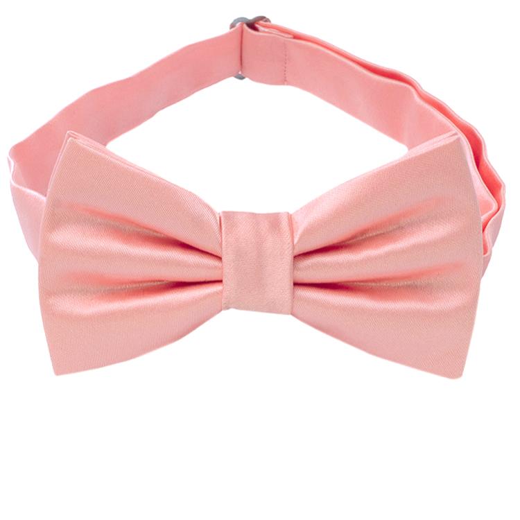 Coral Salmon Flamingo Bow Tie