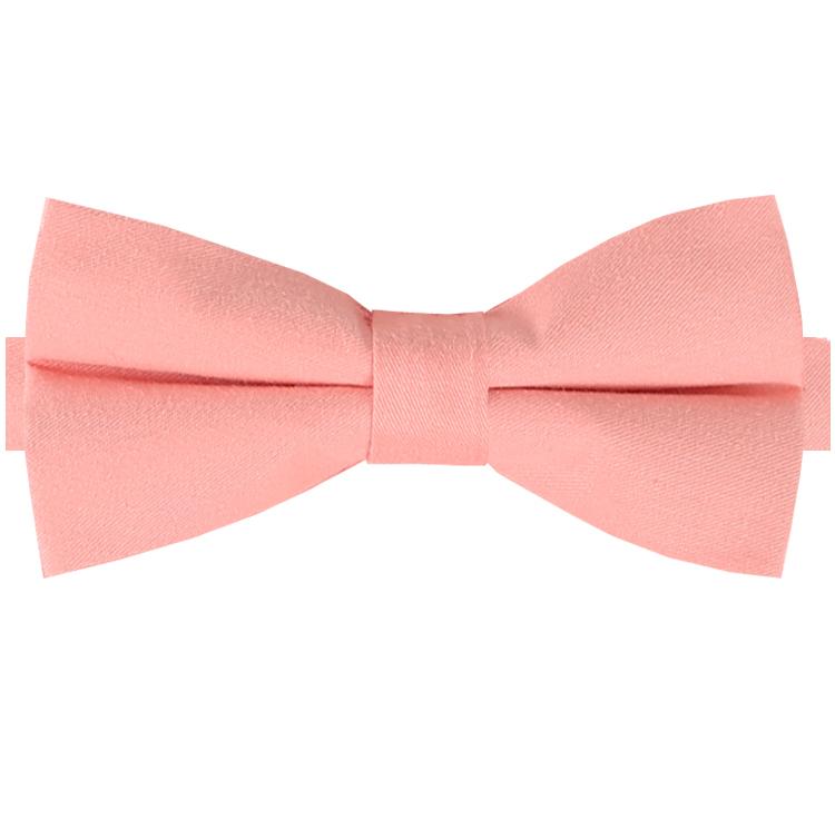 Coral Peach Cotton Mens Bow Tie