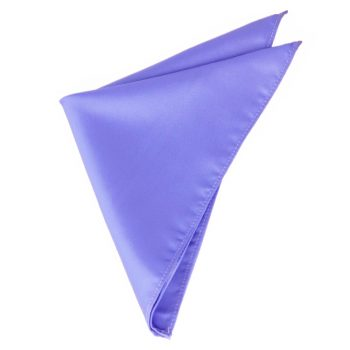 Mens Cornflower Serenity Blue Pocket Square Handkerchief