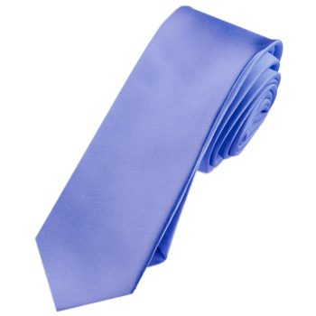 Mens Cornflower Dark Serenity Blue Skinny Tie