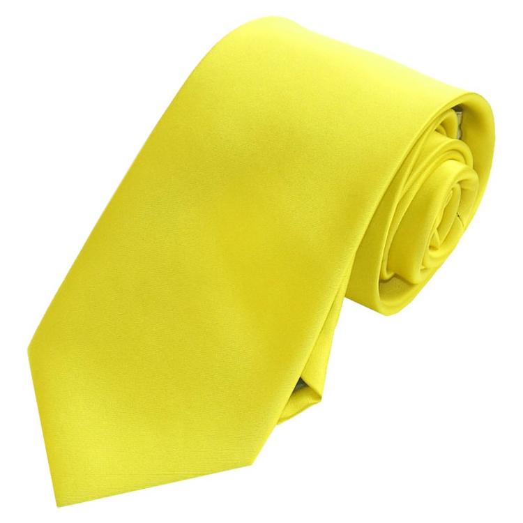 Men's Daffodil Yellow Tie