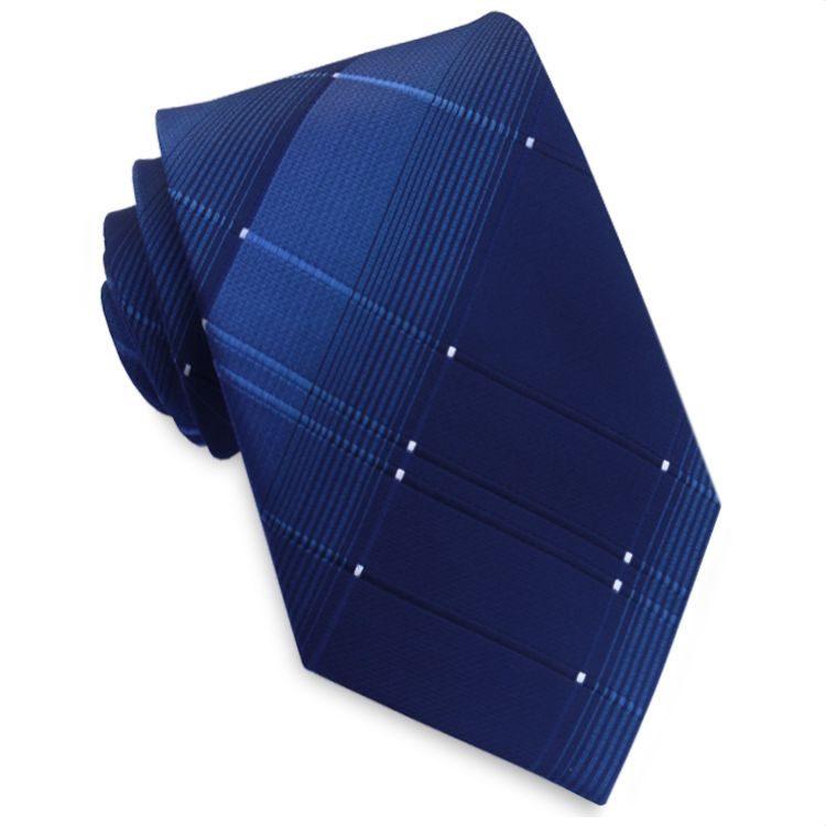 Dark Blue with Blue Crosshatch Diamonds Mens Tie