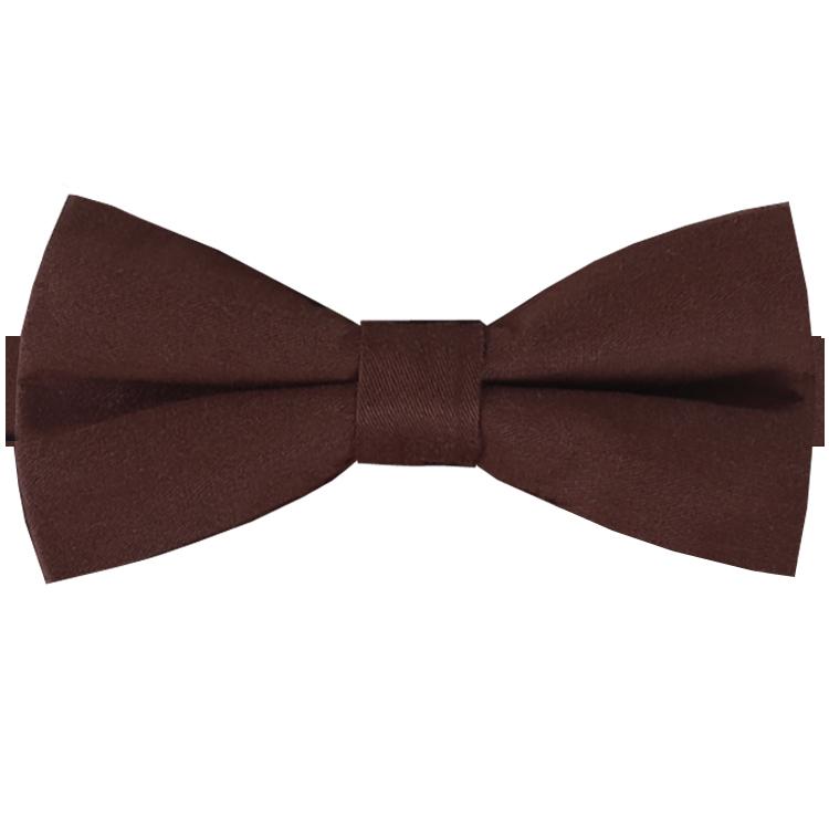 Dark Brown Cotton Men's Bow Tie