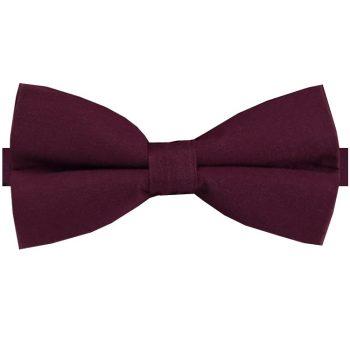 Dark Burgundy Cotton Men's Bow Tie