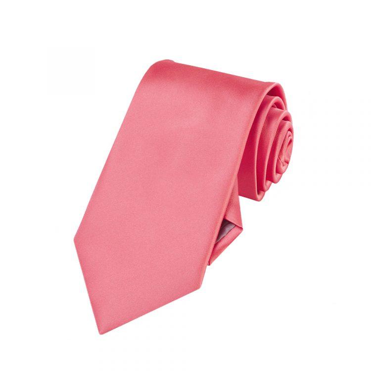 Boys Dark Coral Salmon Tie