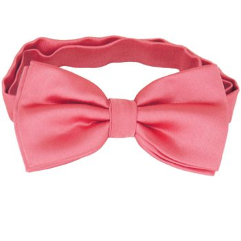 Dark Coral Salmon Melon Plain Bow Tie