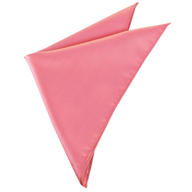 Mens Dark Coral Pocket Square Handkerchief