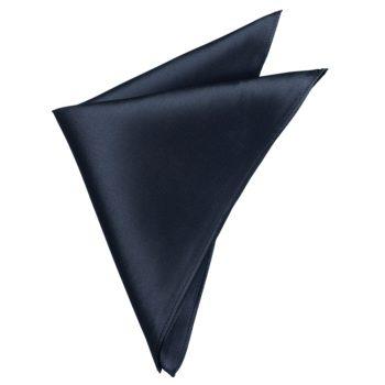 Mens Dark Silver Charcoal Pocket Square