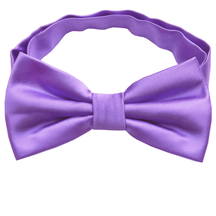Dark Lavender Purple Bow Tie