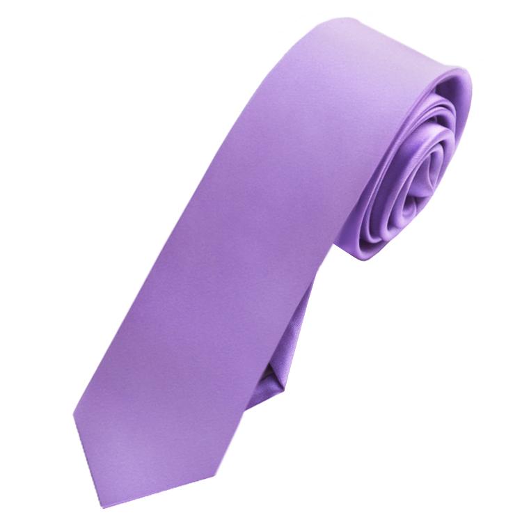Mens Dark Lavender Purple Skinny Tie