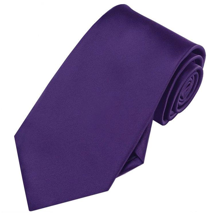 Mens Dark Purple Tie