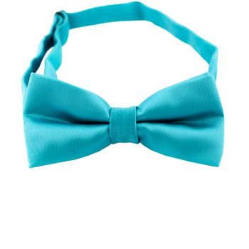 Dark Turquoise Aqua Blue Boys Bow Tie