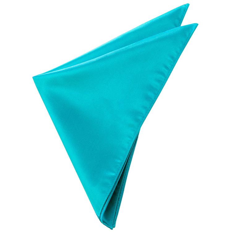 Mens Dark Turquoise Aqua Pocket Square