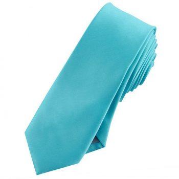 Mens Dark Turquoise Aqua Skinny Tie