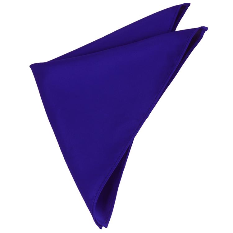 Mens Electric Blue Indigo Pocket Square Handkerchief