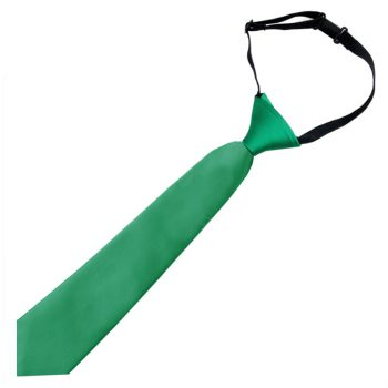 Emerald Green Boys Elasticated Tie