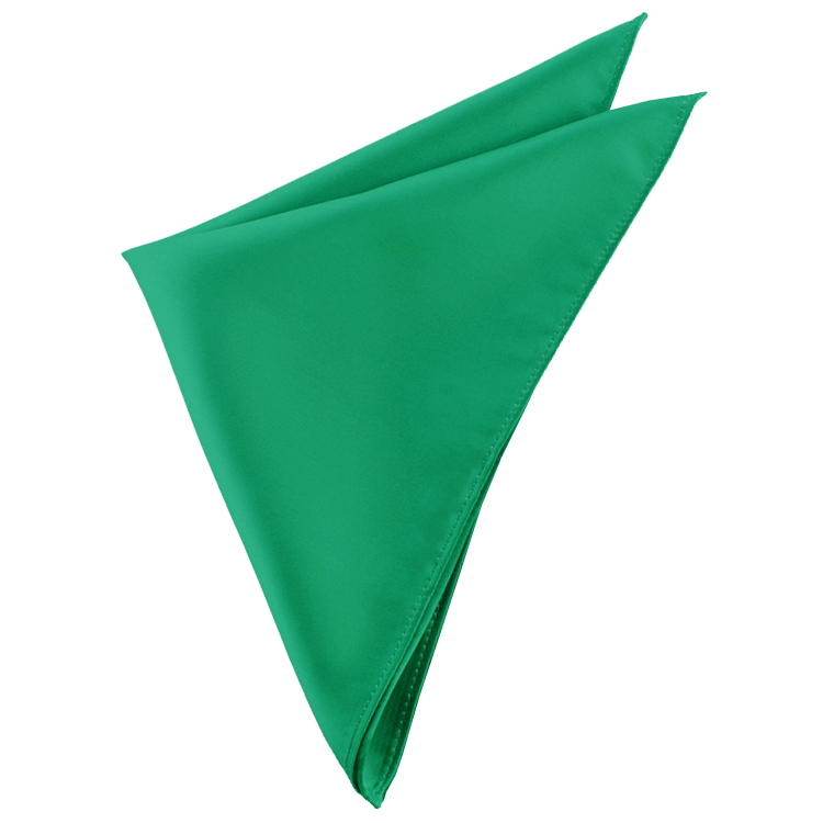 Mens Emerald Green Pocket Square Handkerchief