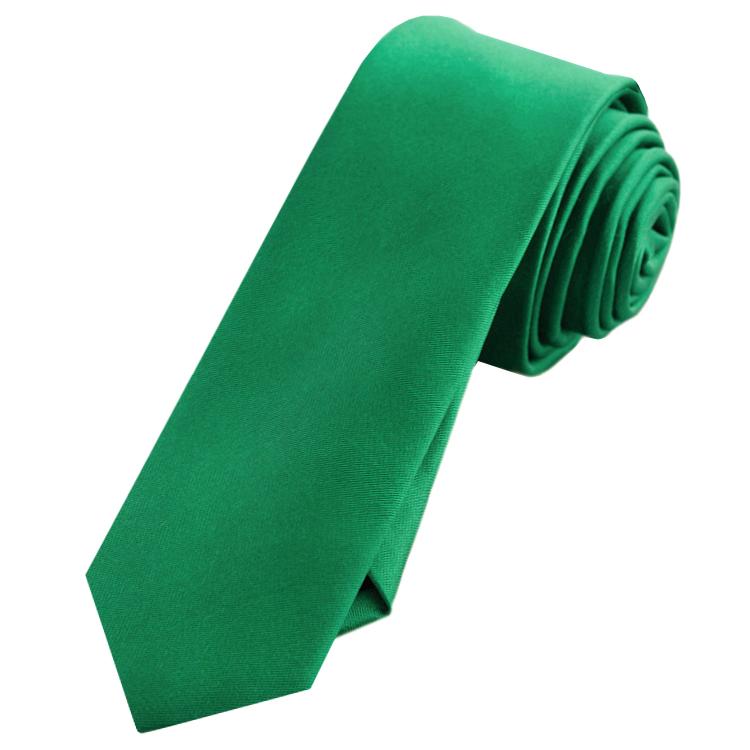 Mens Emerald Green Skinny Tie