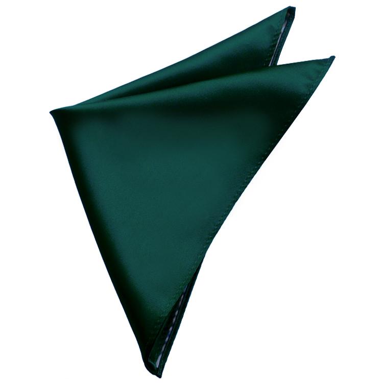 Mens Forest Dark Green Pocket Square