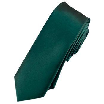 Mens Forest Dark Green Skinny Tie
