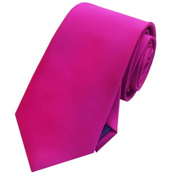 Mens Fuschia Cerise Magenta Pink Tie