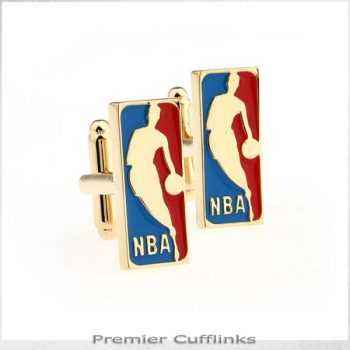 GOLD NBA CUFFLINKS