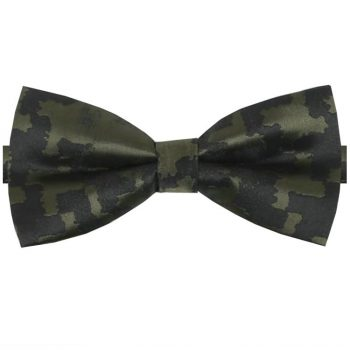 Green Camouflage Bow Tie