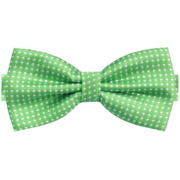 Bright Green With White Polkadots Bow Tie