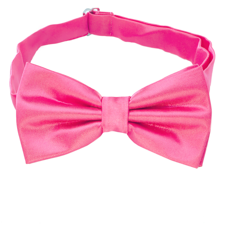 Bright Hot Pink Bow Tie