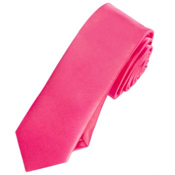 Mens Bright Hot Pink Skinny Tie