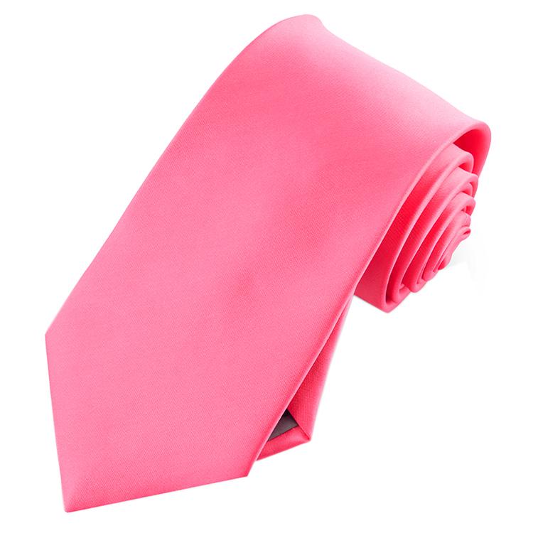 Mens Bright Hot Pink Tie