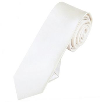 Mens Ivory Champagne Skinny Tie