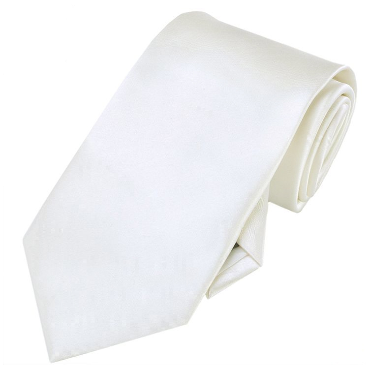 Mens Ivory Champagne Tie