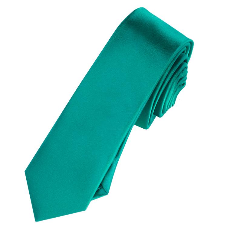 Mens Jade Green Skinny Tie
