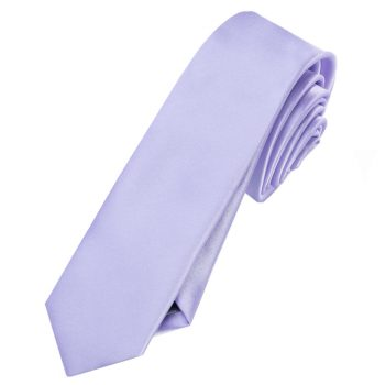 Mens Lavender Lilac Purple Skinny Tie