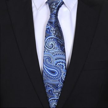 Light & Dark Blue Paisley Mens Tie