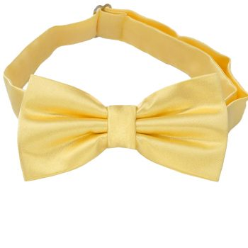 Light Gold Yellow Bow Tie