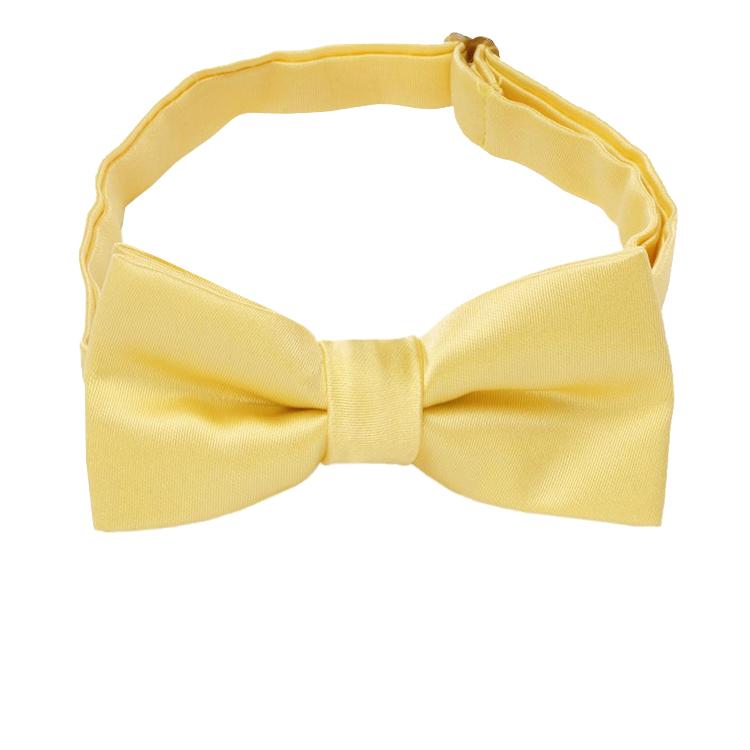 Light Gold Yellow Boys Bow Tie